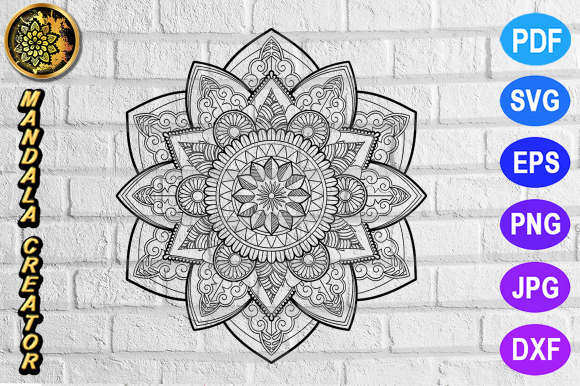 Download Free Mandala Monogram Entangle 14 Graphic By V Design Creator for Cricut Explore, Silhouette and other cutting machines.