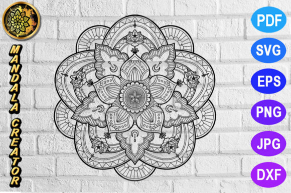 Download Free Mandala Monogram Entangle 23 Graphic By V Design Creator for Cricut Explore, Silhouette and other cutting machines.