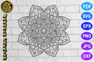 Print on Demand: Mandala Monogram Entangle 16 Graphic Coloring Pages & Books Adults By V-Design Creator