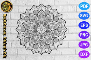 Print on Demand: Mandala Monogram Entangle 18 Graphic Coloring Pages & Books Adults By V-Design Creator
