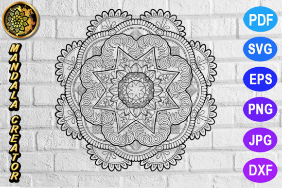 Download Free Mandala Monogram Entangle 17 Graphic By Mandala Creator for Cricut Explore, Silhouette and other cutting machines.