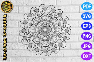 Print on Demand: Mandala Monogram Entangle 21 Graphic Coloring Pages & Books Adults By V-Design Creator