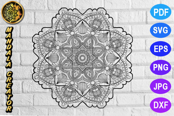 Print on Demand: Mandala Monogram Entangle 22 Graphic Coloring Pages & Books Adults By V-Design Creator