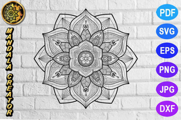 Print on Demand: Mandala Monogram Entangle 23 Graphic Coloring Pages & Books Adults By V-Design Creator