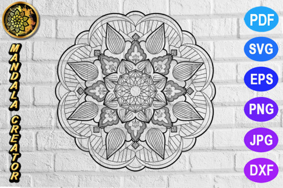 Download Free Mandala Monogram Entangle 24 Graphic By V Design Creator for Cricut Explore, Silhouette and other cutting machines.