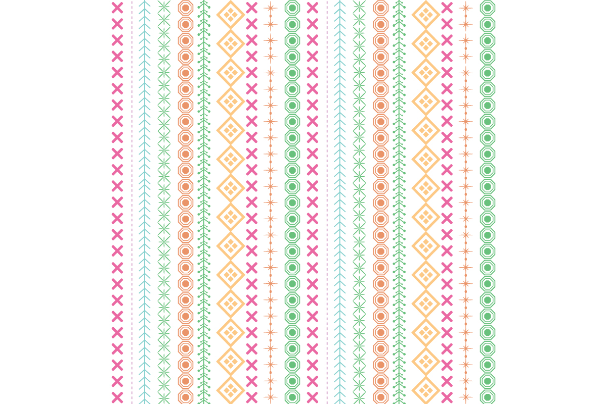 Download Free Modern Embroidered Design Pattern Graphic By Stockfloral for Cricut Explore, Silhouette and other cutting machines.