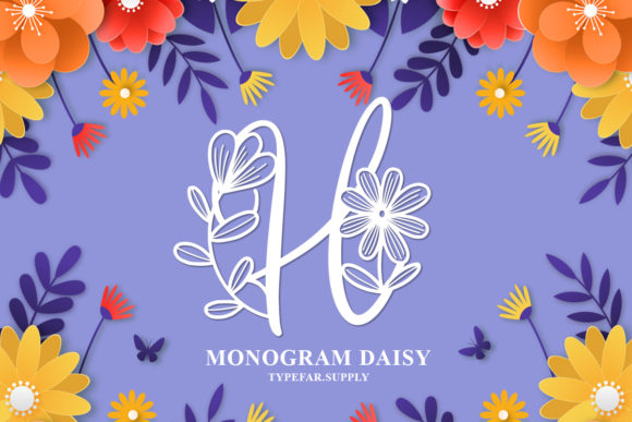 Print on Demand: Monogram Daishy Decorative Font By Typefar