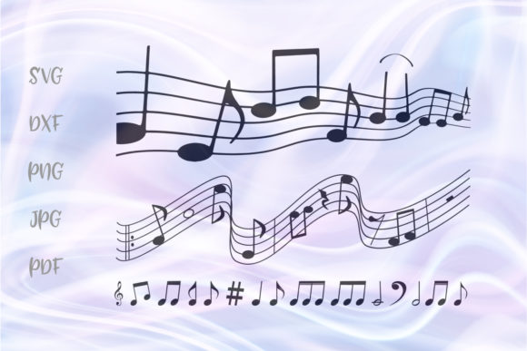 Download Free Music Notes Melody For Cricut Vector Graphic By Digitals By for Cricut Explore, Silhouette and other cutting machines.