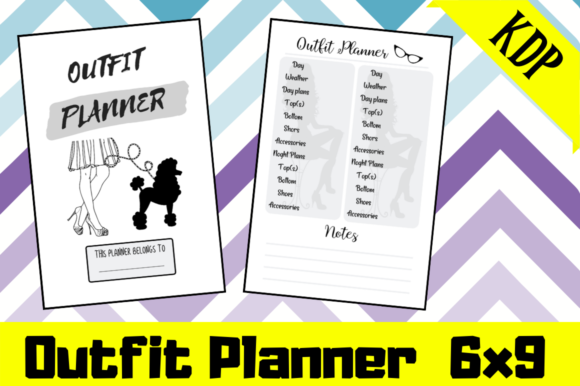 Print on Demand: Outfit Planner | KDP Interior Graphic KDP Interiors By Hungry Puppy Studio