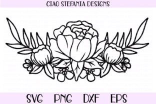 Peony Flower Bouquet Graphic Crafts By ciaostefaniadigital