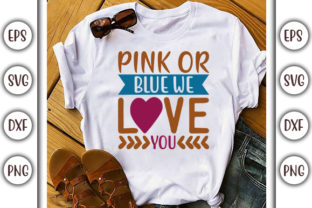 Download Free Pregnacy Design Pink Or Blue Graphic By Graphicsbooth for Cricut Explore, Silhouette and other cutting machines.