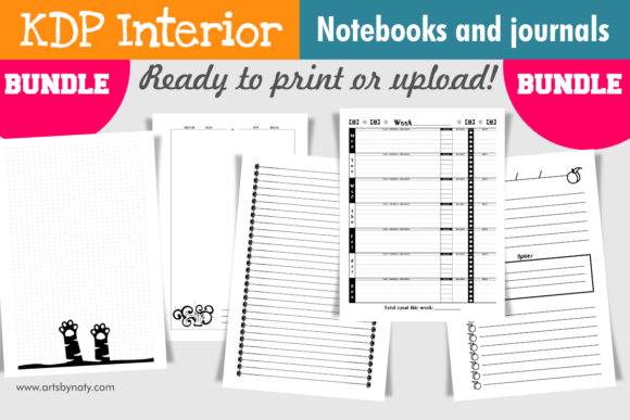 Print on Demand: Printable Interior Notebook and Journal  By artsbynaty