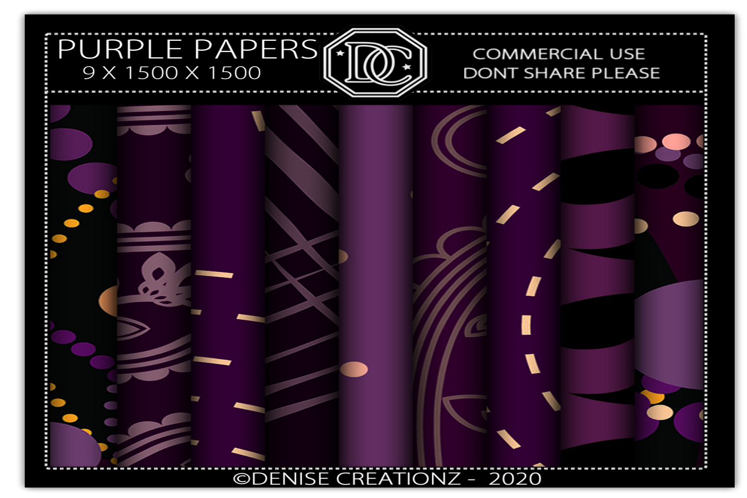 Download Free Purple Papers Graphic By Denise Creationz Creative Fabrica for Cricut Explore, Silhouette and other cutting machines.