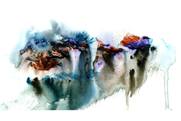 Print on Demand: Rainbow Colors Watercolors Spots Graphic Textures By kakva