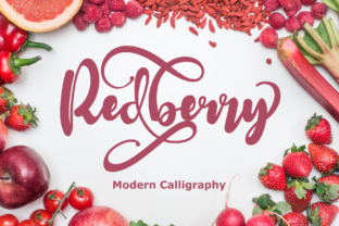 Print on Demand: Redberry Display Font By Rusd studio