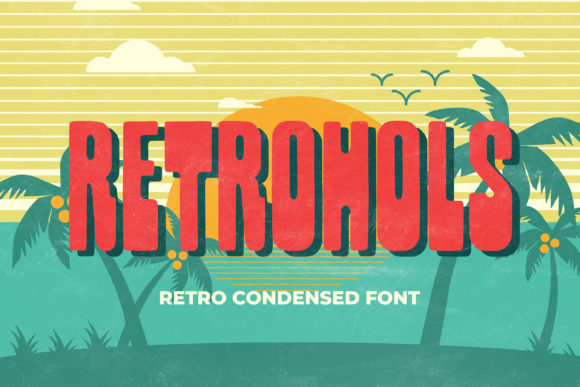 Print on Demand: Retrohols Display Font By almarkhatype