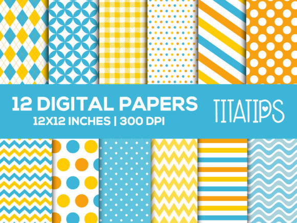 Download Free Rubber Duck Digital Paper Boyl Patterns Graphic By Titatips for Cricut Explore, Silhouette and other cutting machines.