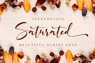 Print on Demand: Saturated Script & Handwritten Font By almarkhatype