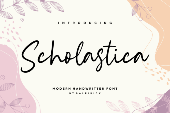Print on Demand: Scholastica Script & Handwritten Font By Balpirick