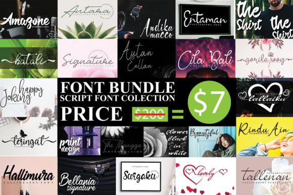 Print on Demand: Script Font Collection  By andikastudio