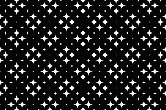 Download Free Seamless Monochrome Curved Star Pattern Graphic By Davidzydd for Cricut Explore, Silhouette and other cutting machines.