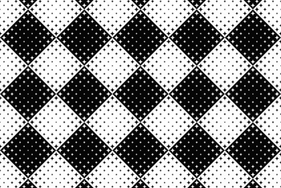 Seamless Monochrome Curved Star Pattern Graphic Patterns By davidzydd