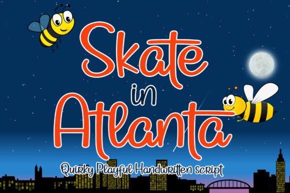 Print on Demand: Skate in Atlanta Script & Handwritten Font By airotype