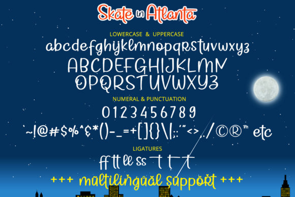 Print on Demand: Skate in Atlanta Script & Handwritten Font By airotype - Image 7