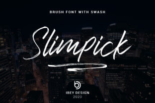 Print on Demand: Slimpick Script & Handwritten Font By ibeydesign