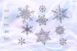 Download Free Snowflakes Bundle For Cricut Vector Graphic By Digitals By Hanna for Cricut Explore, Silhouette and other cutting machines.