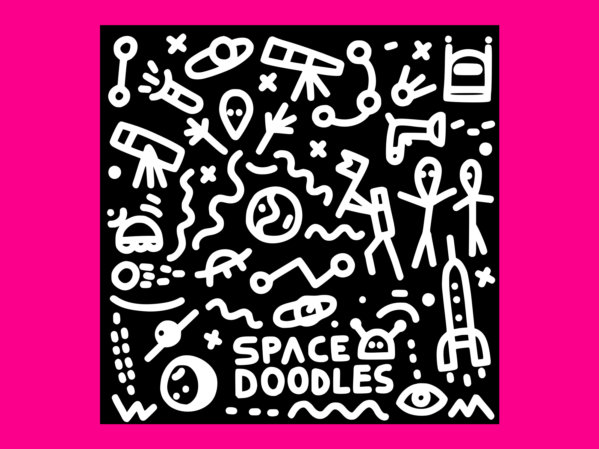 Download Free Space Doodles Set 2 Graphic By Anrasoft Creative Fabrica for Cricut Explore, Silhouette and other cutting machines.