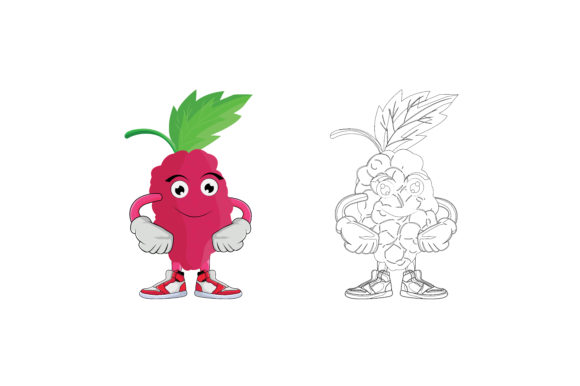 Download Free Strawberry Fruit Cartoon Character Graphic By Printablesplazza for Cricut Explore, Silhouette and other cutting machines.