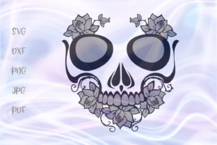 Download Free Sugar Skull For Cricut Vector Cut Graphic By Digitals By Hanna for Cricut Explore, Silhouette and other cutting machines.