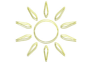 Sun Scribble Stitch Summer Embroidery Design By SweetDesign