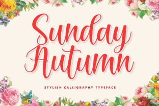 Print on Demand: Sunday Autumn Script & Handwritten Font By Holydie Studio