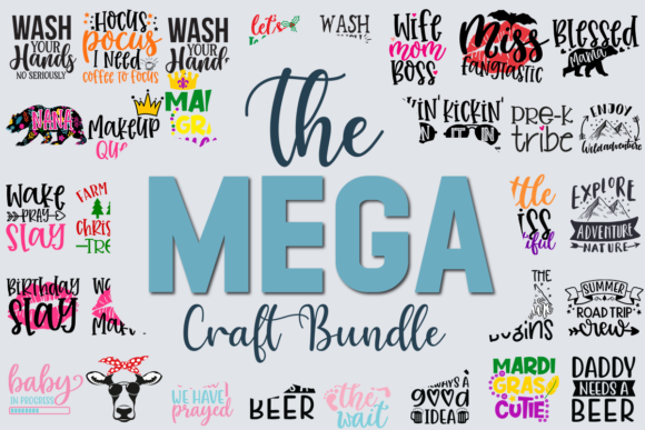 Print on Demand: The Mega Craft Bundle  By svgbundle.net