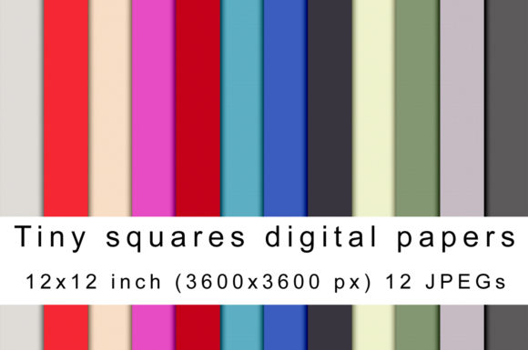 Print on Demand: Tiny Squares Graphic Textures By Andrea Kostelic