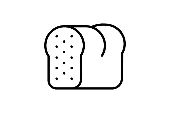 Download Free Toast Icon Bread Modern Simple Graphic By Deniprianggono78 for Cricut Explore, Silhouette and other cutting machines.