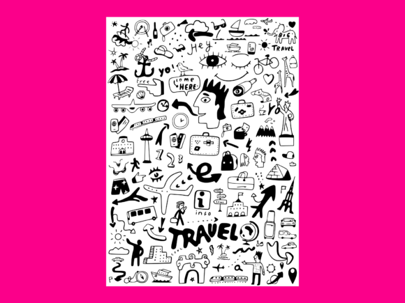 Download Free Travel Transportation Doodle Graphic By Anrasoft Creative Fabrica for Cricut Explore, Silhouette and other cutting machines.