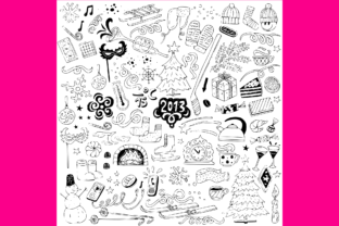 Download Free Winter Doodles Set 3 Grafico Por Anrasoft Creative Fabrica for Cricut Explore, Silhouette and other cutting machines.