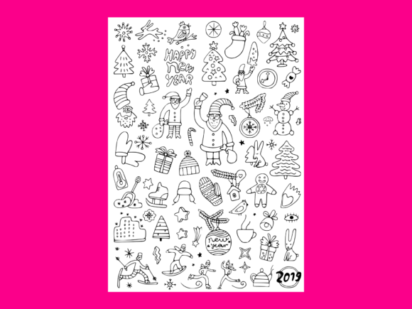 Download Free Winter Holidays Doodle Set 2 Graphic By Anrasoft Creative Fabrica SVG Cut Files
