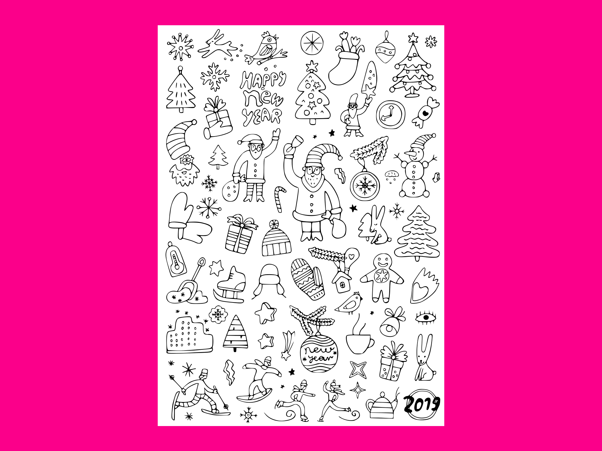 Download Free Winter Holidays Doodle Set 2 Graphic By Anrasoft Creative Fabrica for Cricut Explore, Silhouette and other cutting machines.