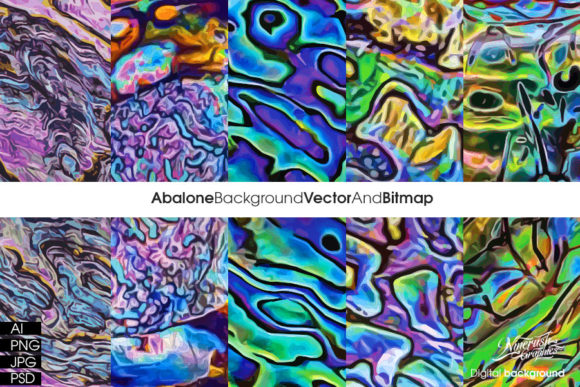 Download Free Abalone Shell Background Bitmap Vector Graphic By Ninerush for Cricut Explore, Silhouette and other cutting machines.
