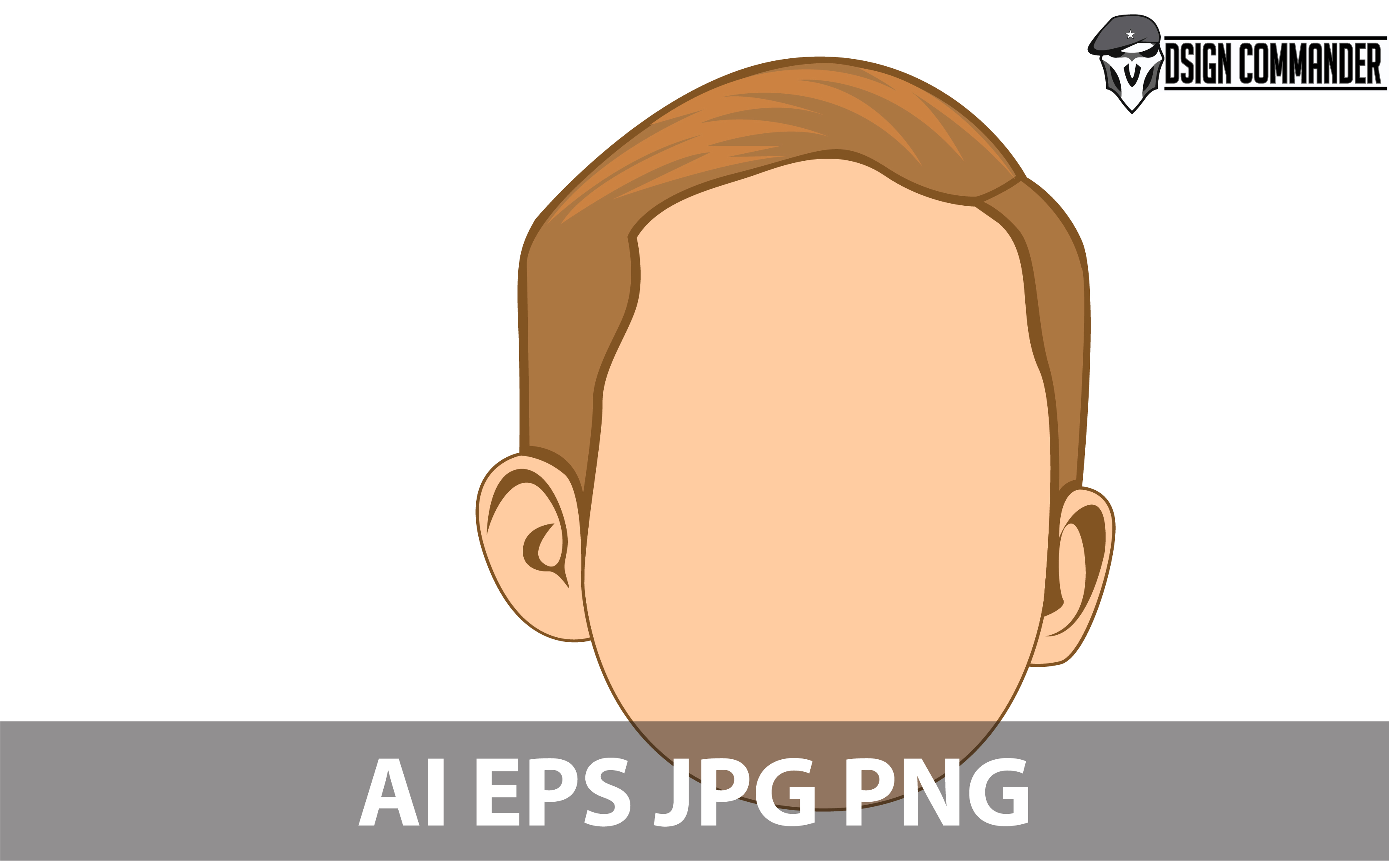 Download Free Head Child Avatar Cartoon Design Vector Graphic By for Cricut Explore, Silhouette and other cutting machines.