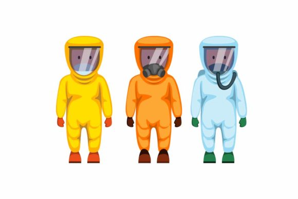 Download Free People Wear Hazmat Suit Icon Set Vector Graphic By Aryo Hadi for Cricut Explore, Silhouette and other cutting machines.