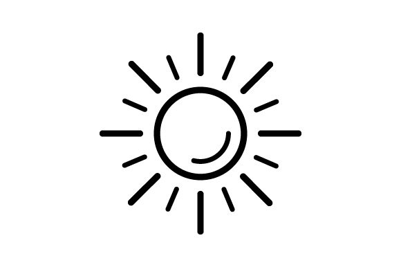 Download Free Sun Icon Vector Thin Line Graphic By Deniprianggono78 Creative for Cricut Explore, Silhouette and other cutting machines.