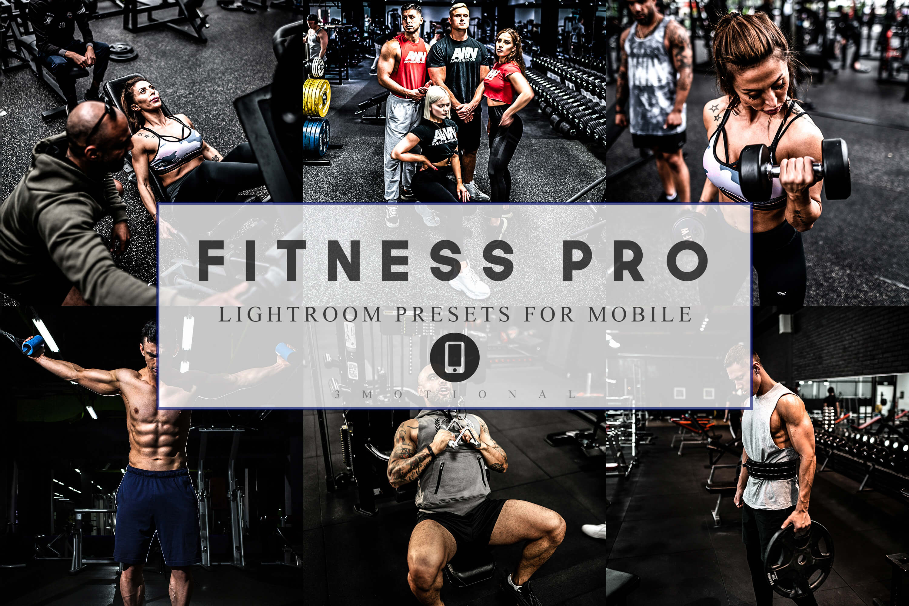 Download Free 12 Mobile Lightroom Presets Fitness Pro Graphic By 3motional for Cricut Explore, Silhouette and other cutting machines.