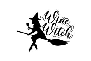 Wine Witch Halloween Craft Cut File By Creative Fabrica Crafts