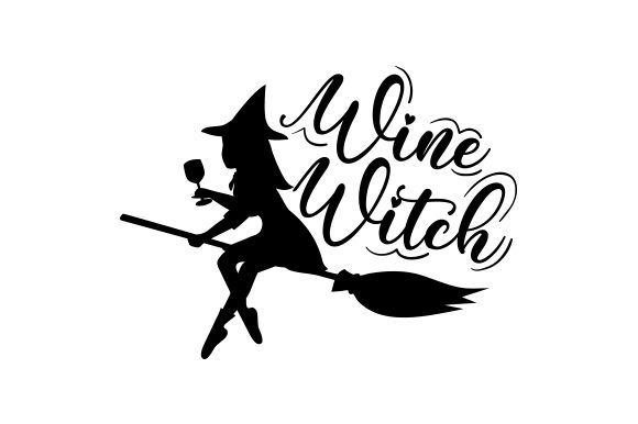 Wine Witch Halloween Plotterdatei von Creative Fabrica Crafts