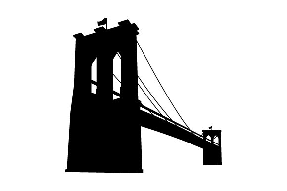 Download Free Brooklyn Bridge Silhouette Svg Cut File By Creative Fabrica for Cricut Explore, Silhouette and other cutting machines.